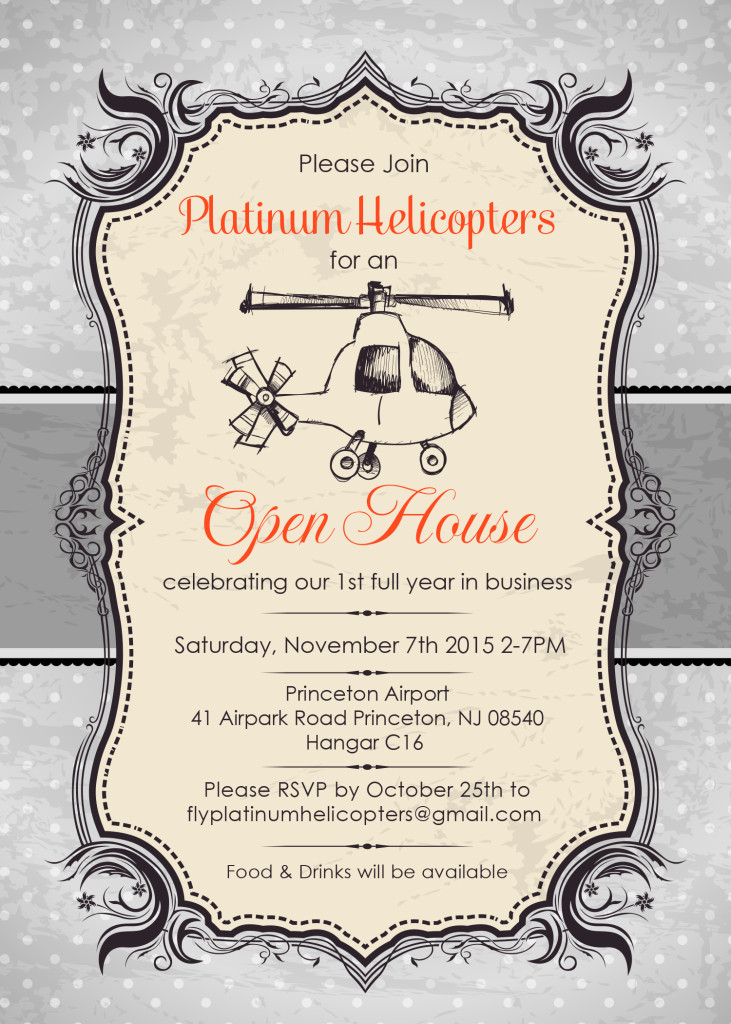 Platinum Helicopters Open House Invitation